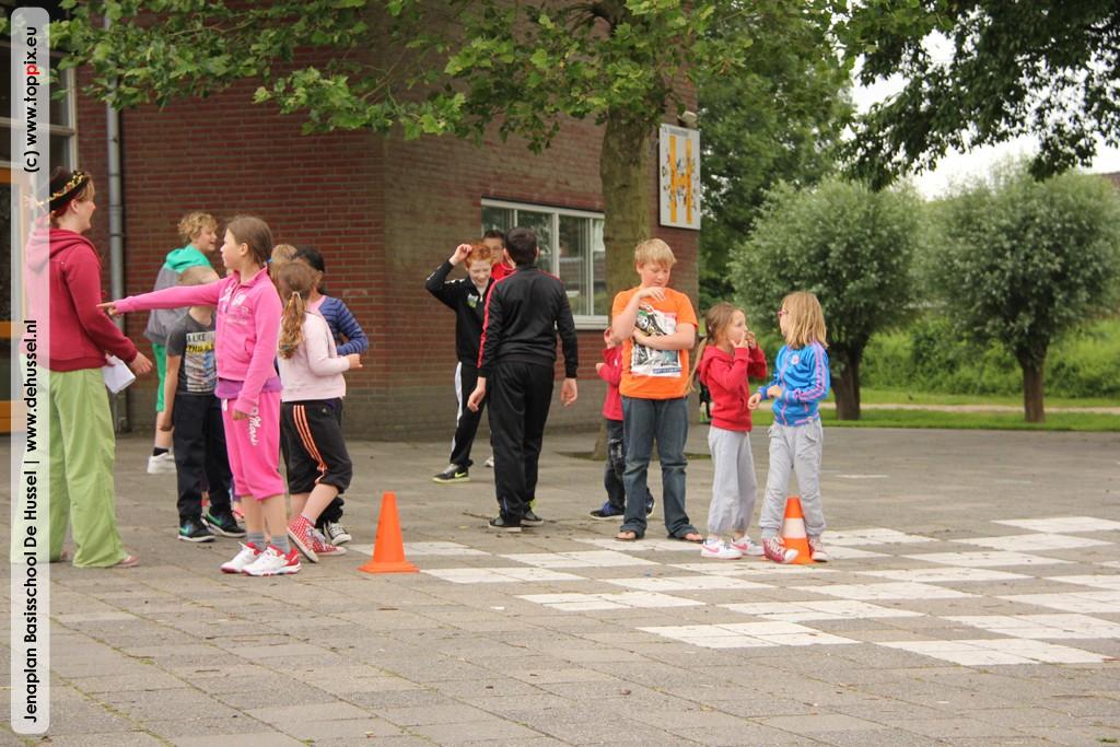 Bij Deuntje mochten de kinderen laten zien hoe hard ze kunnen rennen